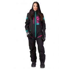W Recruit Lite Monosuit Black/Elec Pink/MInt-thumbnail