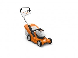 Battery-operated lawn mowers